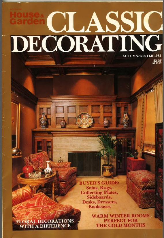 Ahmet Solak Persian Carpet Repair and Restoration Co appears in 1982 Classic Decorating (Cover)