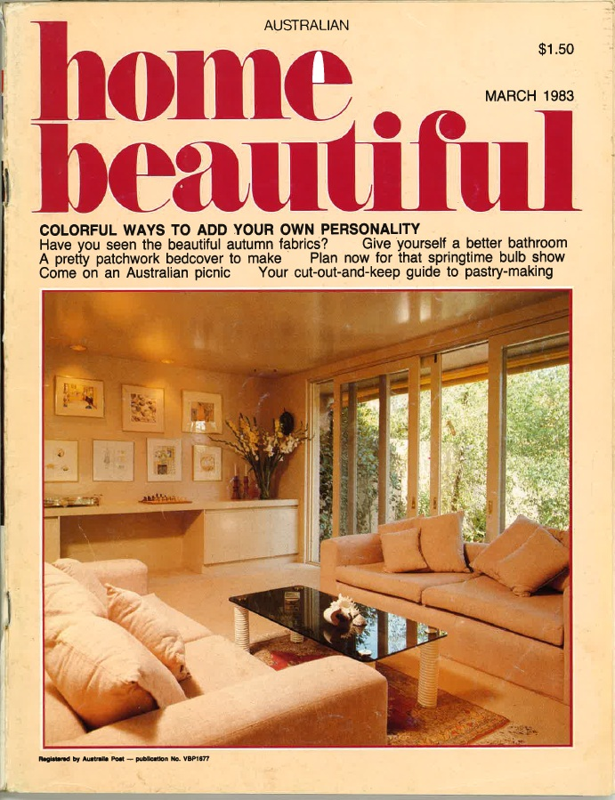 Ahmet Solak Persian Carpet Repair and Restoration Co appears in 1983 Home Beautiful (Cover)
